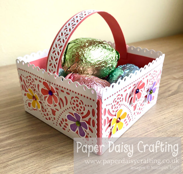 Jubilee Beauty dies Easter basket Stampin Up
