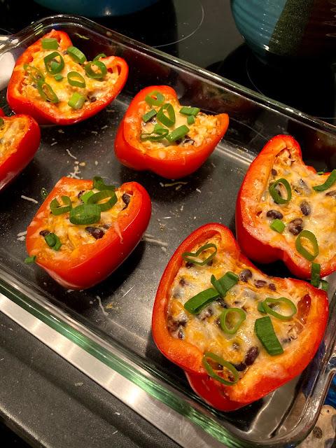 Buffalo chicken stuffed peppers- Lauren@Mizhelenscountrycottage