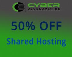 50% Discount on Cyberdeveloperbd Shared Hosting