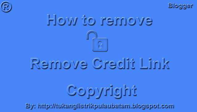Begini Cara Menghapus Credit Link Template