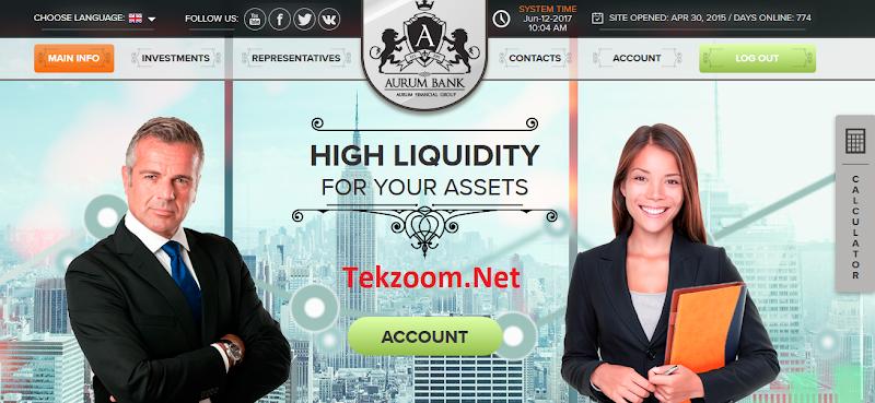 [SCAM] Review Aurum-Bank : Lãi từ 3% hằng ngày - Đầu tư tối thiểu 10$ - Thanh toán Manual