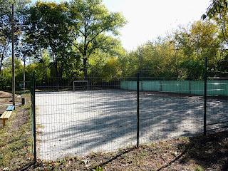 Межевая. Футбольное поле в парке им. Чкалова