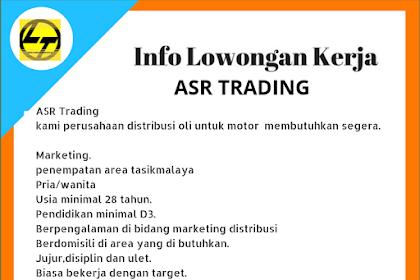 Lowongan Kerja Marketing ASR Trading