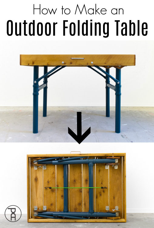 How to build an outdoor folding table from inexpensive cedar pickets and lightweight PVC pipe in this easy to follow video tutorial and building plans