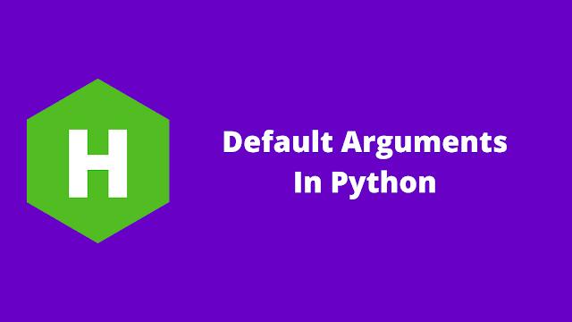 HackerRank Default Arguments in python problem solution