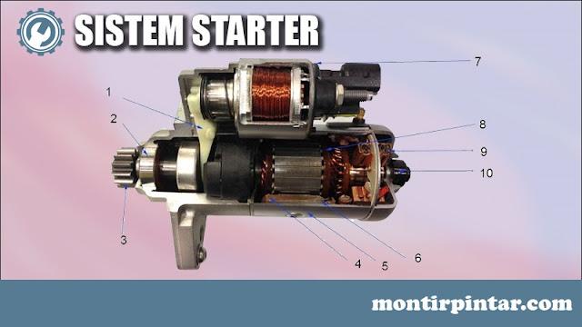 komponen sistem starter dan fungsinya