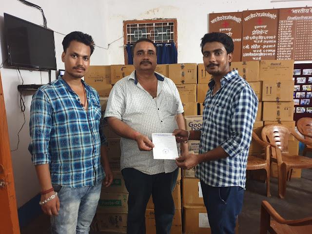 नवयुग संस्था ने मुजफ्फरपुर में पीड़ित बच्चों के लिए ग्लूकोस, ओ.आर.एस और बिस्कुट वितरण किया