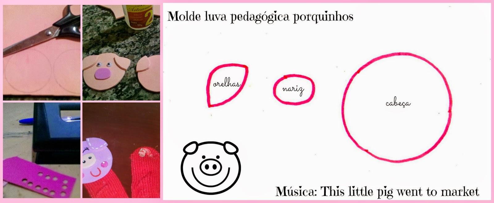 molde porquinhos musica