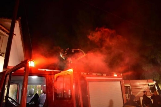 Καταστροφική φωτιά σε σπίτι στη Μάνη Διδυμοτείχου