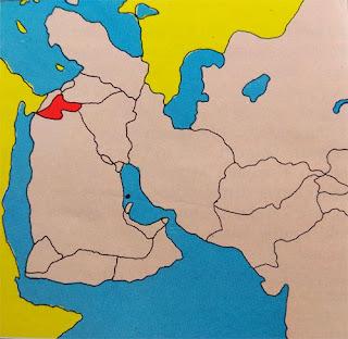 Gambar Peta letak negara Yordania