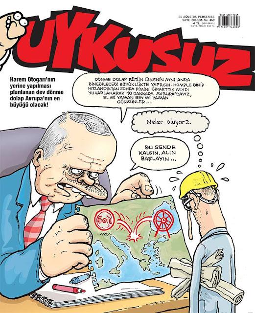 Uykusuz Dergisi - 25 Ağustos 2016 Kapak Karikatürü