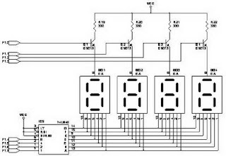74LS247 7 Segment Display Circuit
