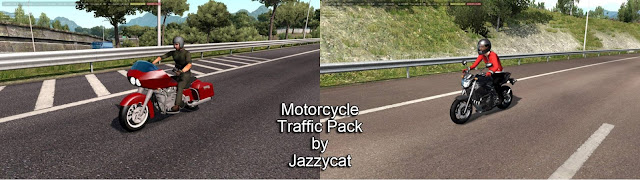 motorcycle traffic pack v3.2 for ets 2 & ats by jazzycat screenshot, new motorcycles, Harley Davidson Road Glide, Yamaha XJ6
