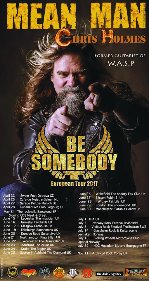 Chris Holmes / Mean Man UK Tour 2017