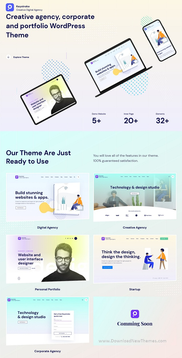Creative Agency Multipurpose WordPress Template