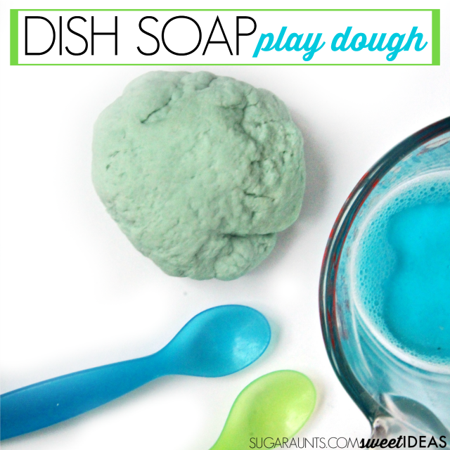Make sensory play dough using liquid dish soap for a soft sensory play dough recipe that the kids will love!