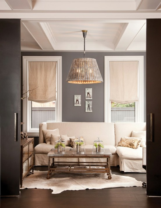 Decoraci n de salas de color gris c mo arreglar los for Sala wharf 73