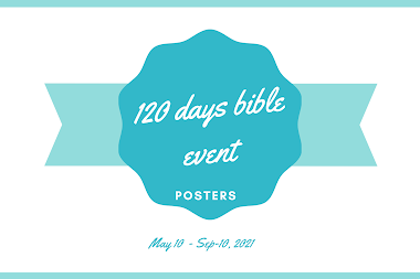 120 days bible reading - posters