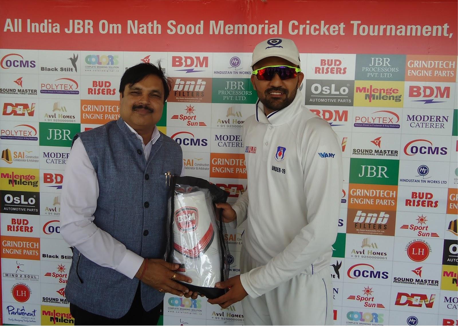 अलर्ट क्रिकेट अकैडमी ओम नाथ सूद क्रिकेट के प्री क्वॉर्टर फाइनल में