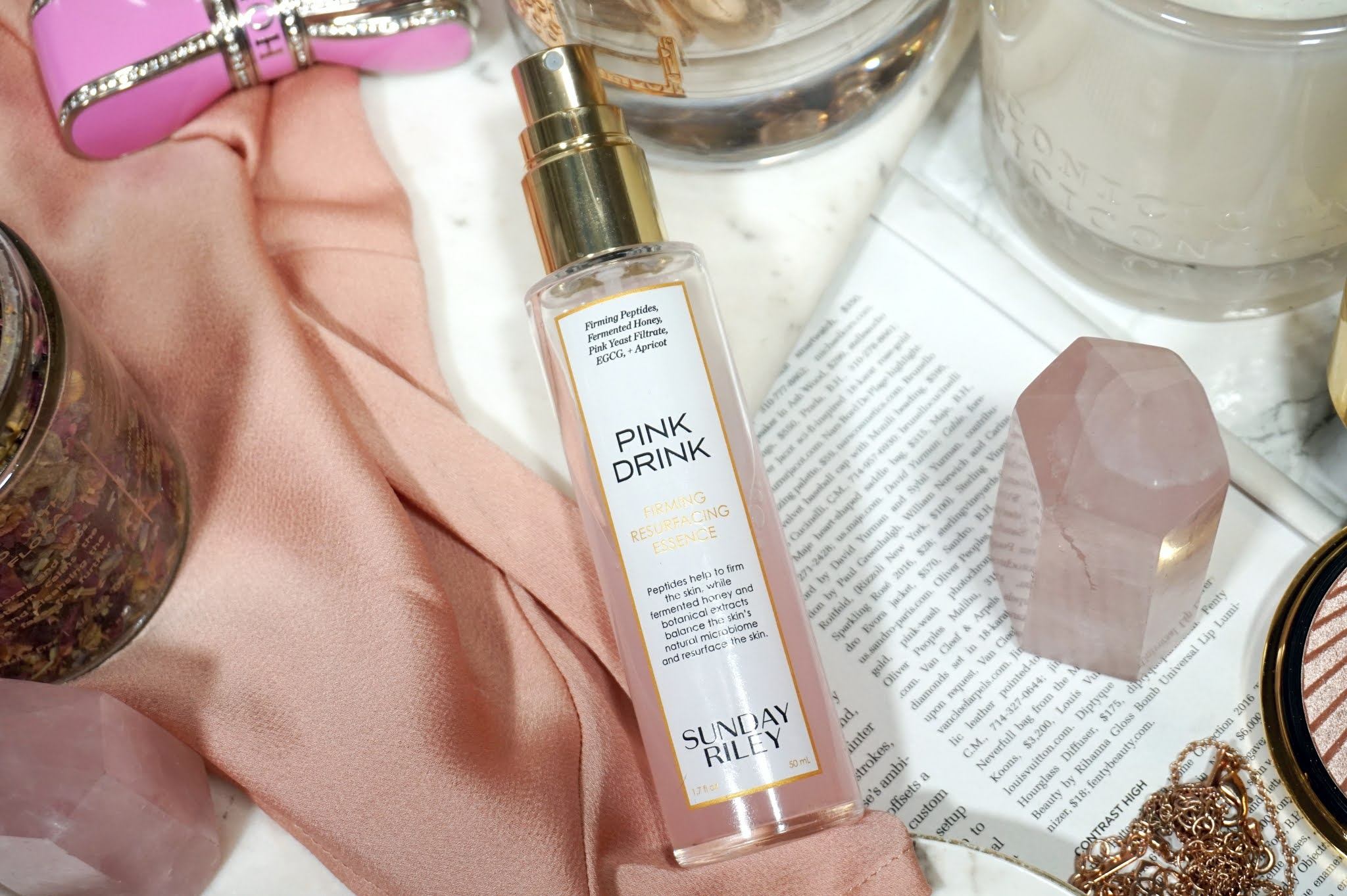 Sunday Riley Pink Drink Firming Resurfacing Essence Review