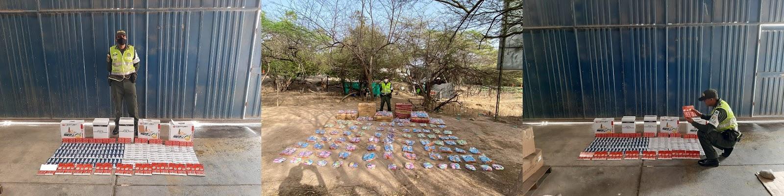 En Mayapo policía incautó contrabando de calzado, confecciones y mercancías varias