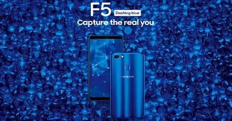 Oppo F5 Dashing Blue Terbaru 2019