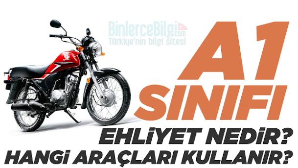 A1 sınıfı ehliyet nedir? A1 sınıfı ehliyet hangi tip araçları kapsar ve kullanabilir? 125 cc sürmek için hangi ehliyet gerekir? A1 sınıfı ehliyetle hangi motorlar kullanılır?