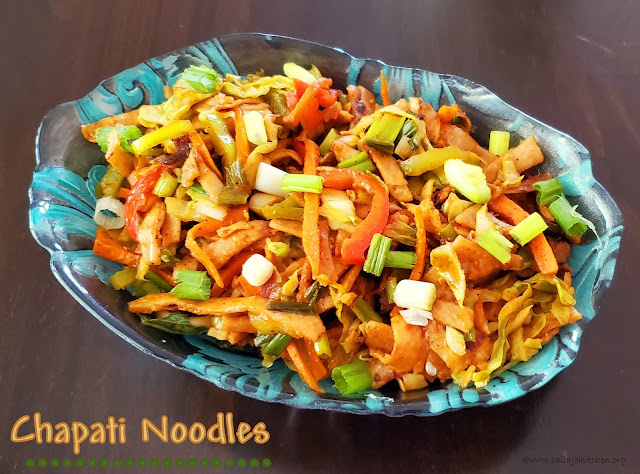 images of Chapati Noodles / Roti Noodles / Chapathi Noodles /Chinese Style Chapati Noodles