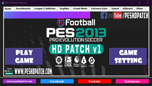 PES HD PATCH Selector home