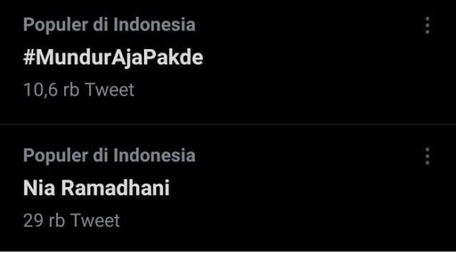 Trending Tagar #MundurAjaPakde di Twitter, Netizen: Jangan Paksain Menjabat