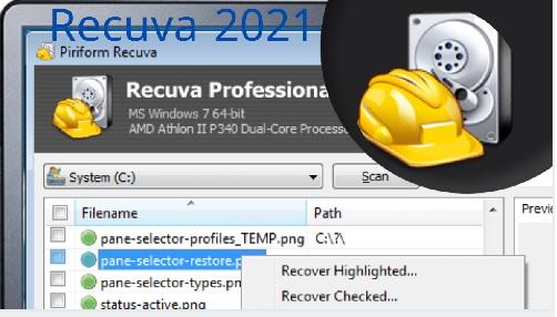 تحميل برنامج استعادة الملفات المحذوفة للاندرويد بالكمبيوتر 2021 Recuva