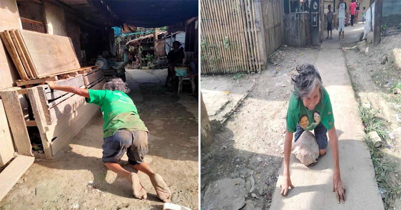 Isa Ina, Pinabayaan Di-umano ng mga Anak na Gumapang sa Lupa at Inuutusan pa ng mga ito!