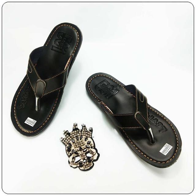 Grosir Sandal Kulit Imitasi Murah - Levis CPC Sol DWS- Sandal Imitasi Kulit Pria
