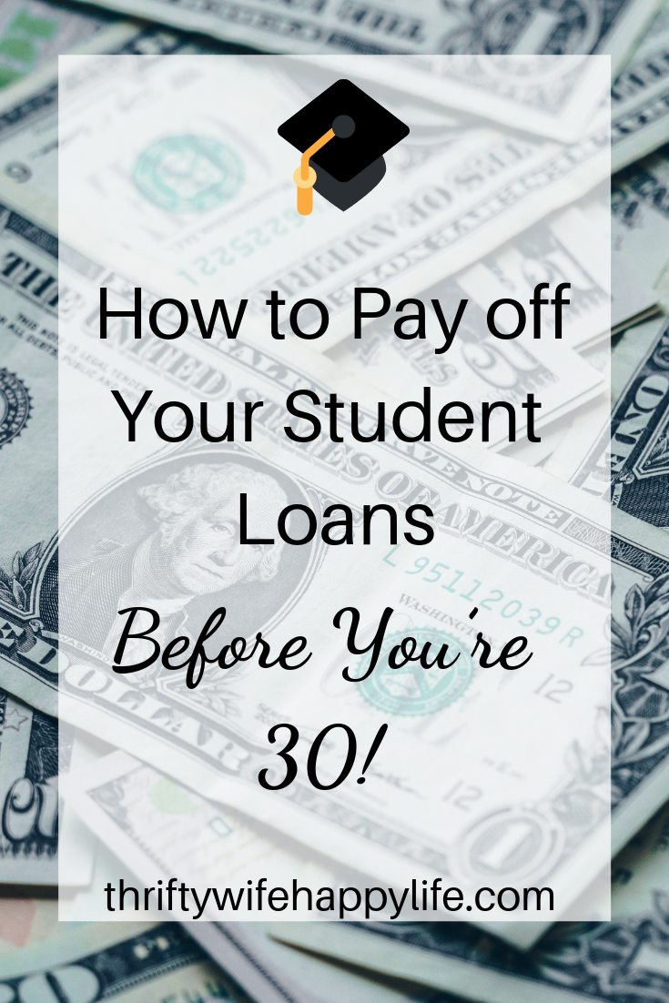 How to pay off your student loans before you're 30