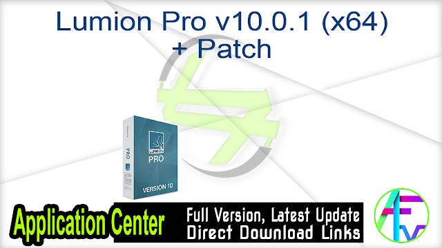 Lumion Pro v10.0.1 (x64) + Patch