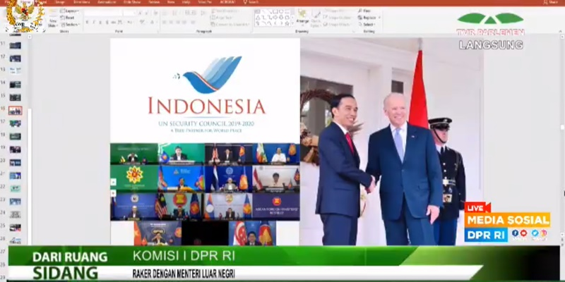 Pamer Foto Jokowi dan Biden, Menlu Retno Langsung Kena Tegur Komisi I DPR
