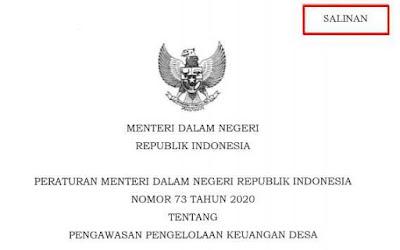 Permendagri Nomor 73 Tahun 2020