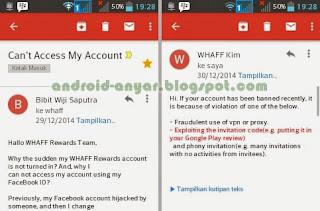 Alasan mengapa akun Whaff Di banned Cara banding banned Whaff Rewards sukses