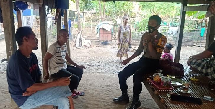 Babinkamtibmas Desa Punaga Utamakan Keselamatan Warganya Dari Virus Corona 19