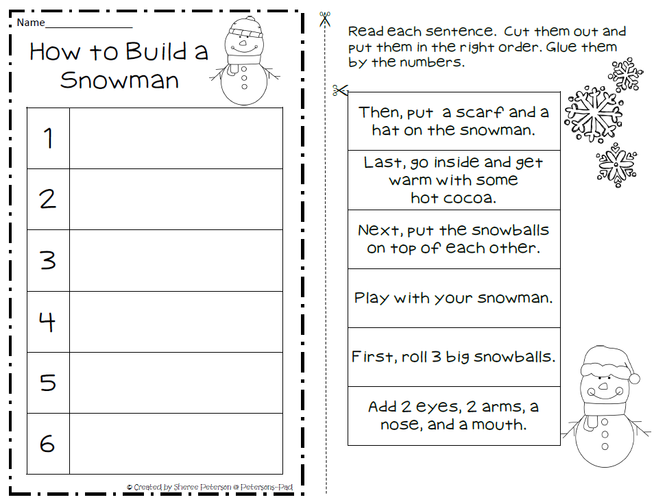 Snowman Writing Template