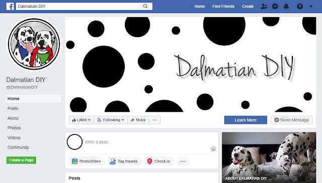 Screenshot of Dalmatian DIY on Facebook