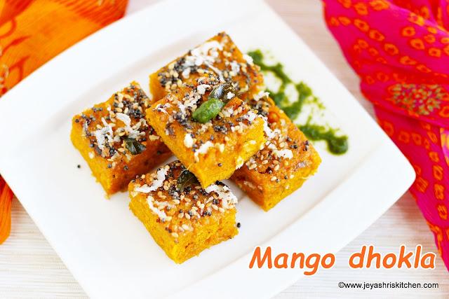Mango-dhokla recipe