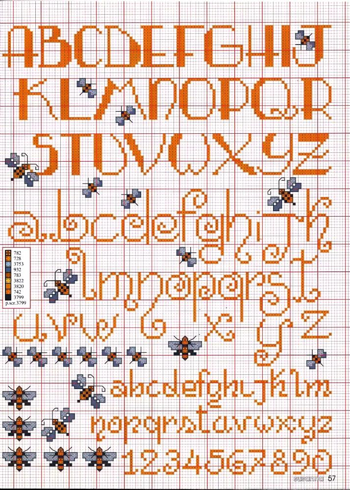 Grande Raccolta Di Schemi E Grafici Per Punto Croce Free Alfabeti