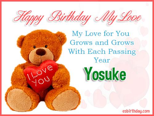 Yosuke Happy Birthday My Love