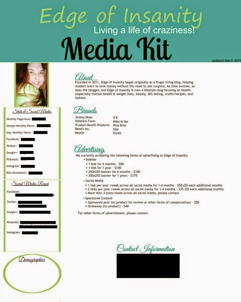 Edge Of Insanity Blogging Tip Do You Need A Media Kit