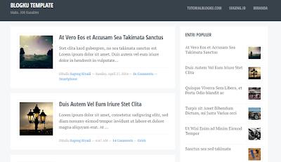 Blogku Template, Template Blogspot Rasa Wordpress yang Keren