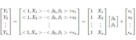 Transformación lineal expresada de forma matricial.