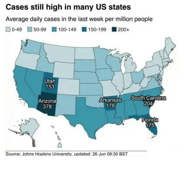 Coronavirus confirmed caseses worldwide reach 10 million Johns Hopkins University reports