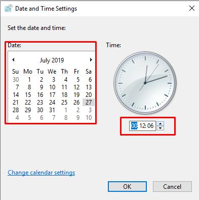 setting date and time untuk merubah setting tanggal lebih spesifik