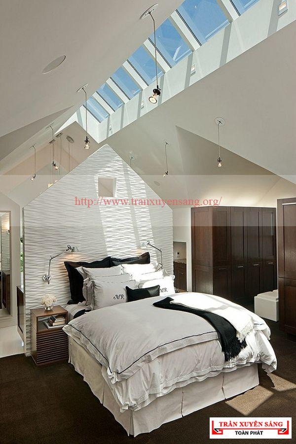 Mẫu trần phòng ngủ in bầu trời 5